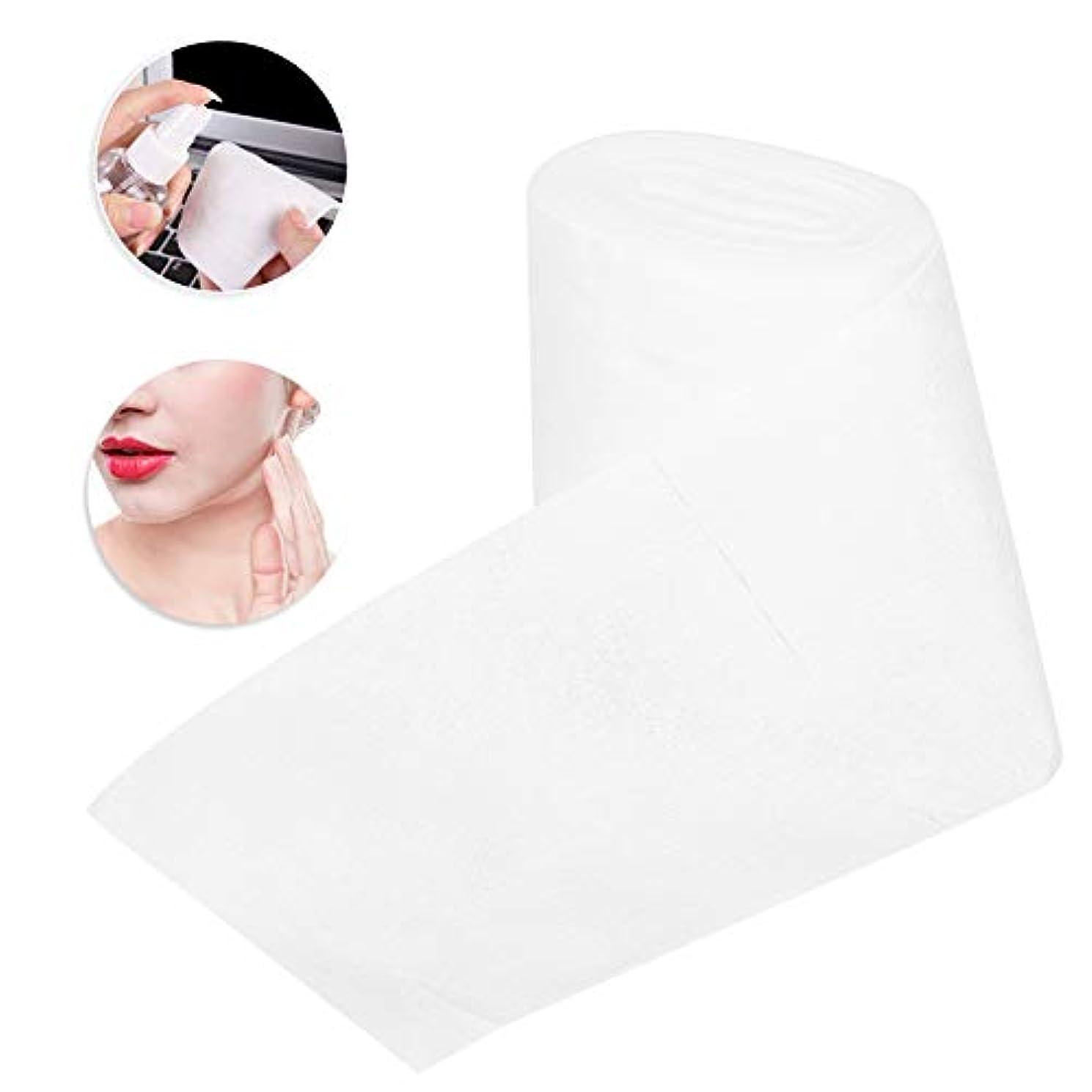 不正直スポンジタービン不織布 使い捨てタオル メイクアップはクレンジングフェイシャルメイクアップ除去のための綿パッドを拭きます、しっとりと乾燥することができます