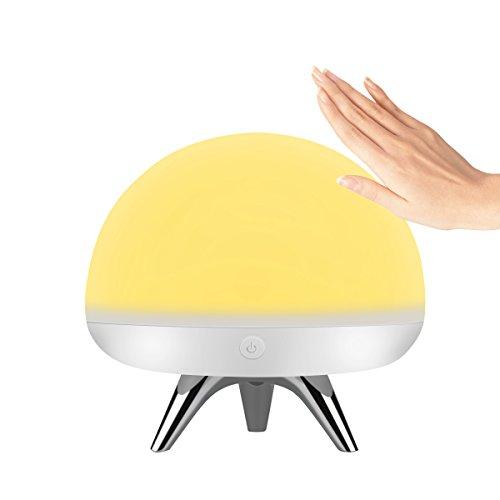 ナイトライト 授乳 ベッドサイドランプ 呼吸ランプ 7色切り替り USB充電 応急ライト センサーライト ルームライト タッチ式 寝室用 シリコン安全素材 クリスマスプレゼント Intsun