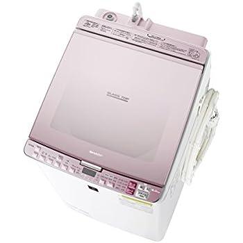 シャープ タテ型洗濯乾燥機 8kgタイプ ピンク系 ESPX8B-P