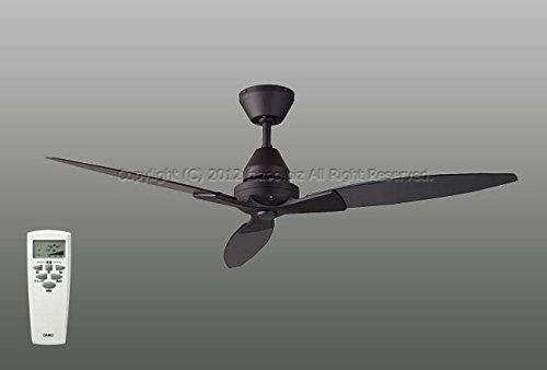 ダイコー シーリングファン ブラック 薄型 軽量 リモコン 簡易取付 【DGF-031】