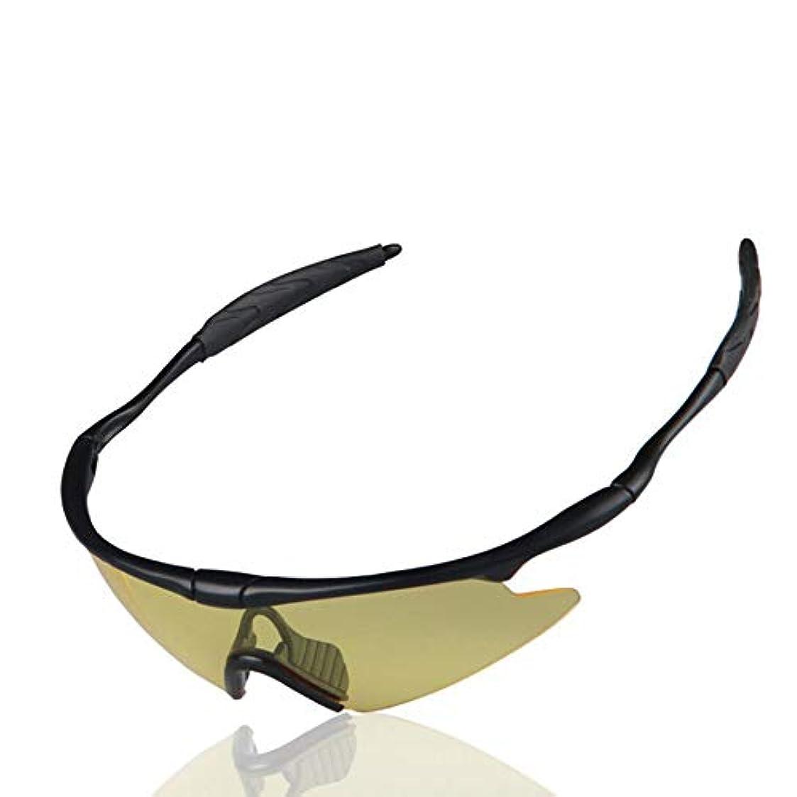 財政あいまいさ説明的サイクリングメガネ 男性と女性のためのスポーツサングラス400保護 - メンズ/レディース5色用ランニング/サイクリング/スキー/スノーボードフレームデザイン (Color : Yellow Lenses)