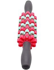 D DOLITY マッサージローラー マッサージスティック トリガ ポイントマッサージ 3色選べ - 赤青