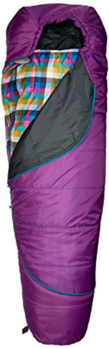 アラーム引き金涙Kelty Girls TRU Comfort 20 Degree Sleeping Bag, Dahlia/Multi-Plaid [並行輸入品]