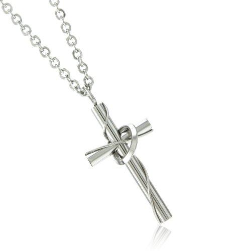 [ナピスト]Napist ステンレス リング 付き クロス ネックレス 愛の十字架