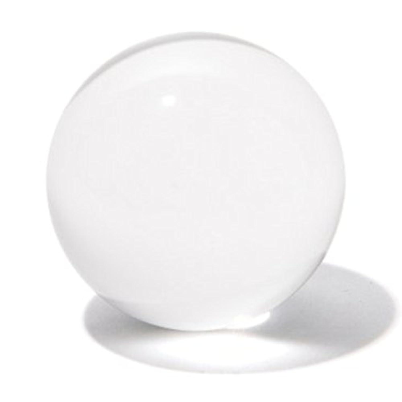 溶錬水晶 クリア 無色透明 ガラス玉 人工水晶 水晶玉 クリスタル 台座 セット (80mm(クリア台座))