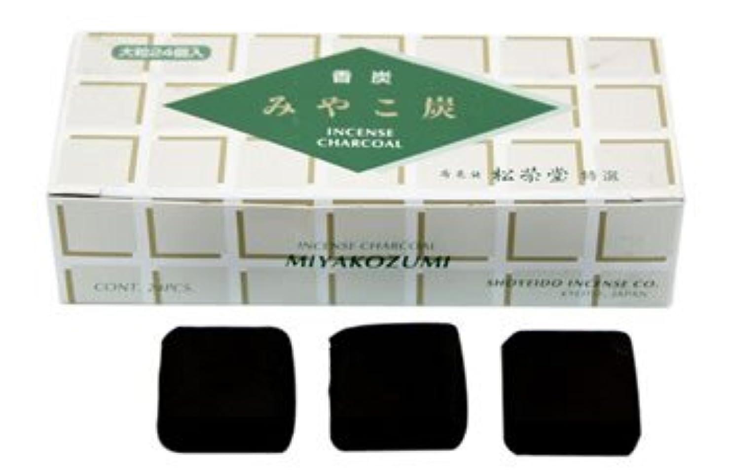 送料悪因子遵守するShoyeido - 正方形木炭 タイプB - 24個セット