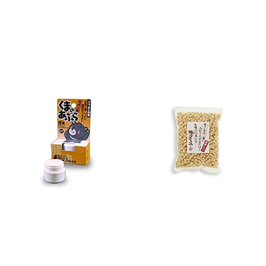 スマート間に合わせ意欲[2点セット] 信州木曽 くまのあぶら 熊油スキン&リップクリーム(9g)?極小こうや(100g)