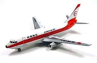 全日空商事 1/200 B737-200 南西航空 SWAL オレンジ塗装 完成品