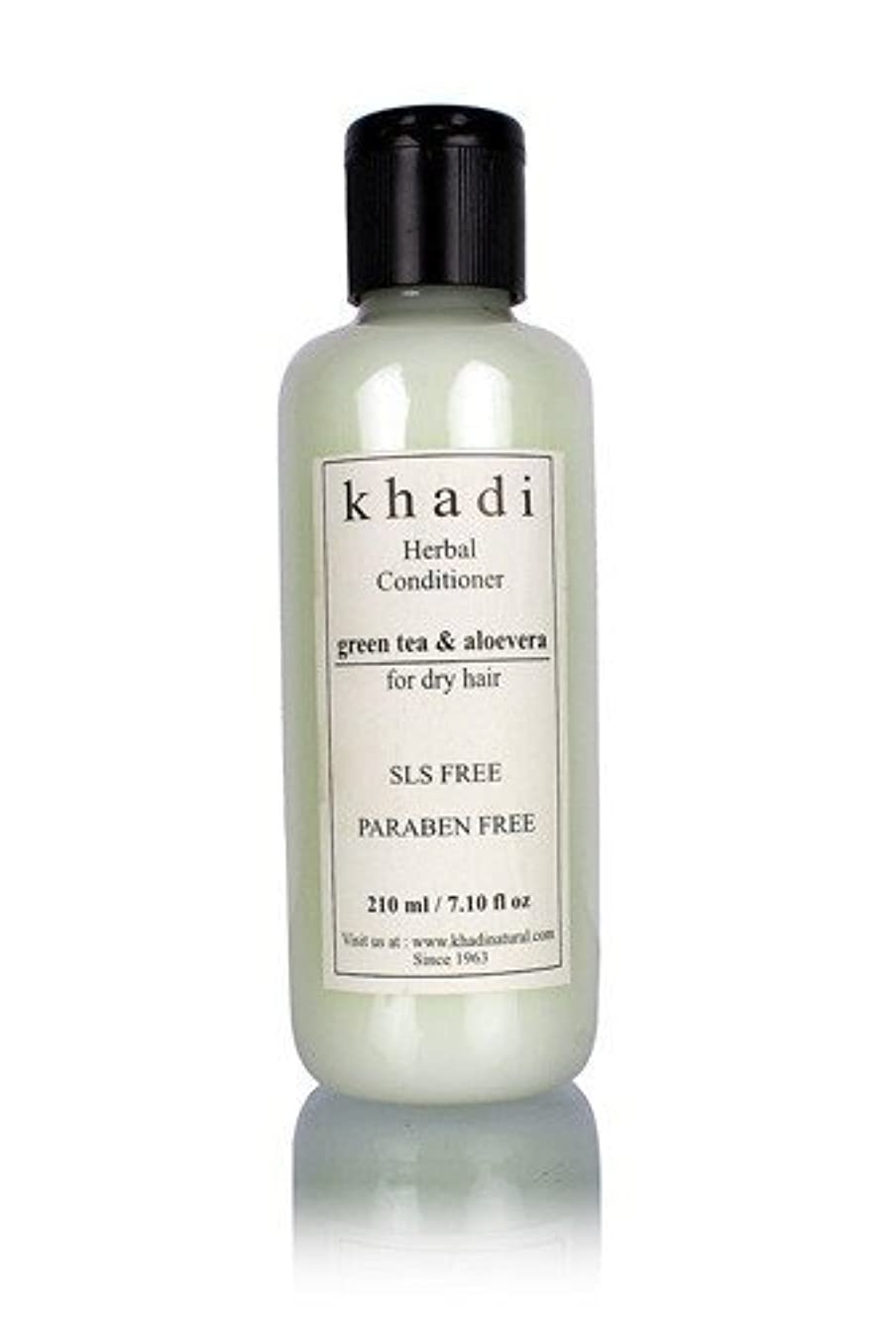 近々みがきます印象的Khadi Herbal Green Tea & Aloevera Hair Conditioner- SLS & Paraben Free - 210 ml