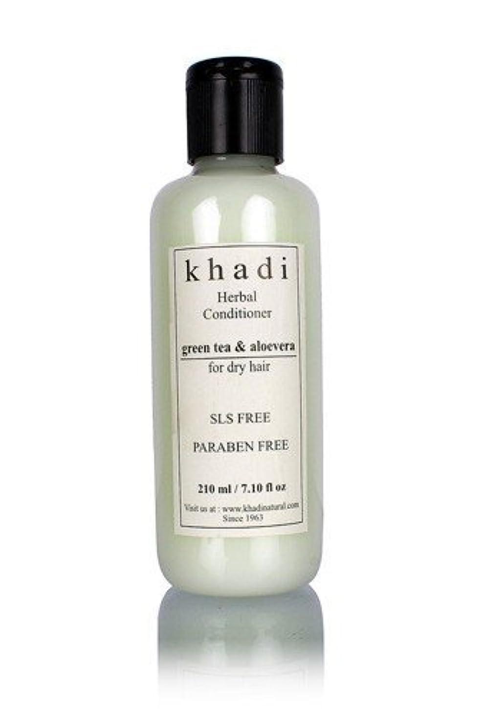 難民かろうじて制限するKhadi Herbal Green Tea & Aloevera Hair Conditioner- SLS & Paraben Free - 210 ml