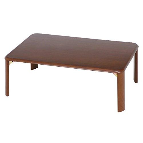 不二貿易 ローテーブル 折りたたみテーブル 90×60 ダークブラウン 40135