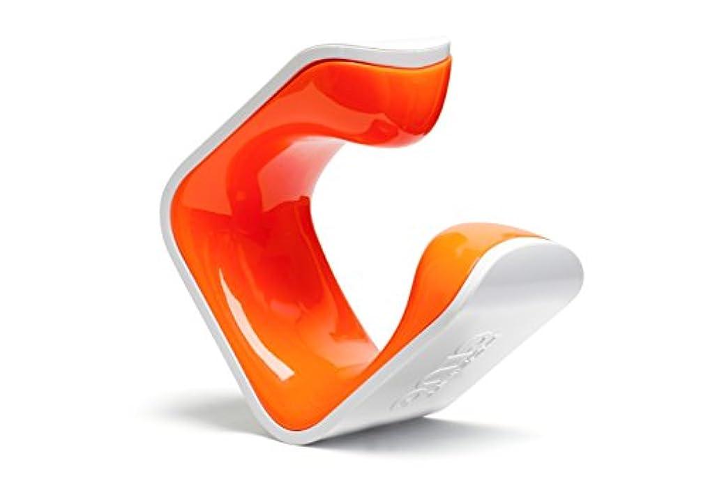 欠員注目すべき乗り出すCLUG Hybrid ディスプレイスタンド 柱?壁設置タイプ(穴あけ必要) ホワイト/オレンジ(036205)