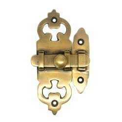 Brass latch W.031 真鍮 アンティーク 金具 ラッチ 棚 ドア