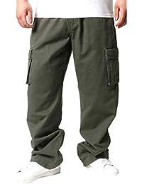 [ジェリーコスビー] メンズ 大きいサイズ カーゴポケット イージーパンツ