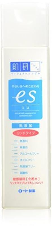 ネット中央値報酬の肌ラボ es(エス) ナノ化ミネラルヒアルロン酸配合 無添加処方 化粧水リッチタイプ とてもしっとり 170mL