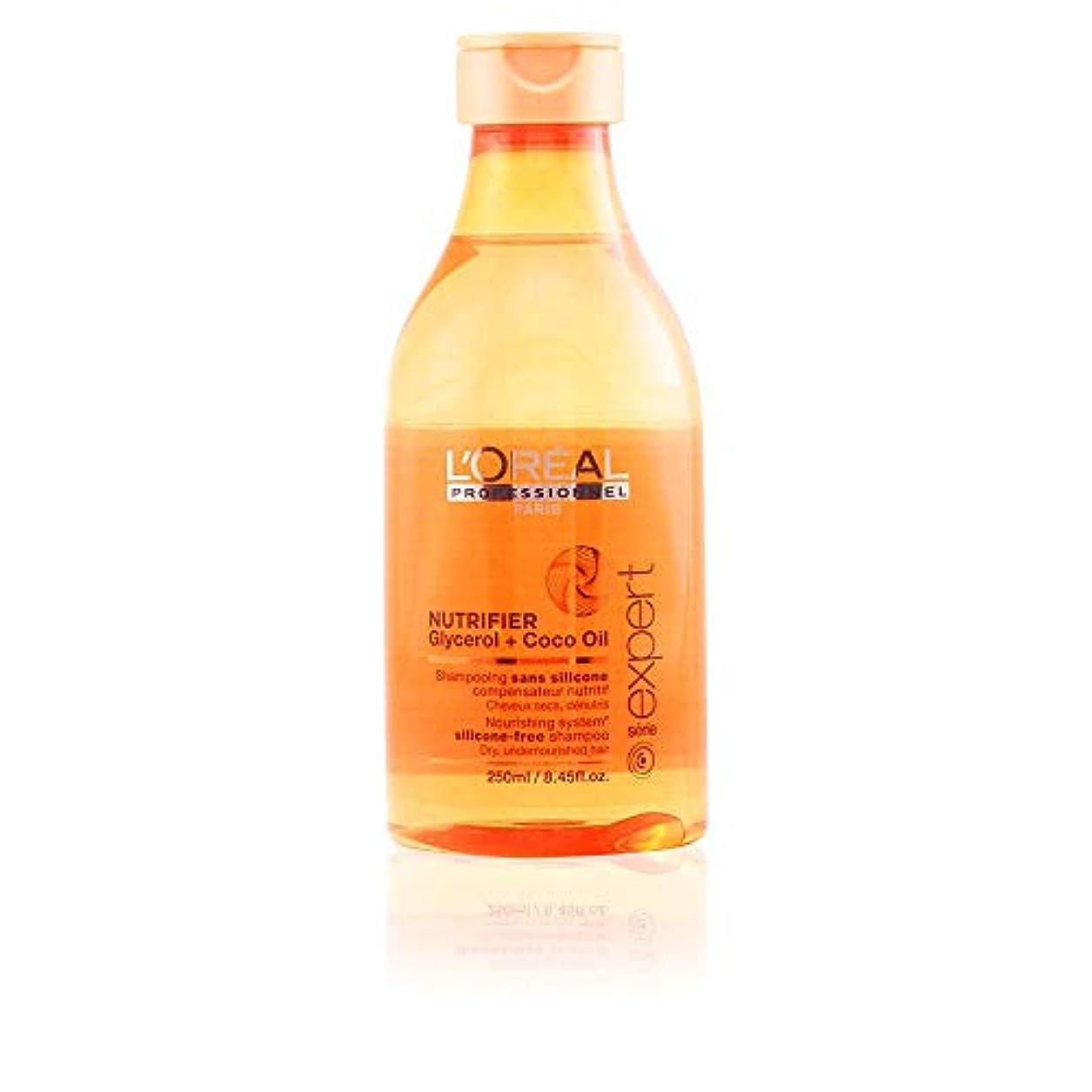 引き金白鳥いつもL'Oreal Serie Expert Glycerol + Coco Oil NUTRIFIER Nourishing System Silicone-Free Shampoo 300 ml [並行輸入品]