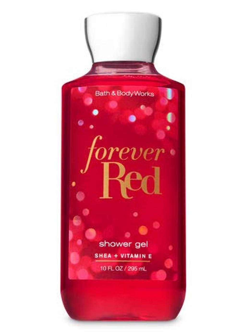 クーポン古風な恐れ【Bath&Body Works/バス&ボディワークス】 シャワージェル フォーエバーレッド Shower Gel Forever Red 10 fl oz / 295 mL [並行輸入品]