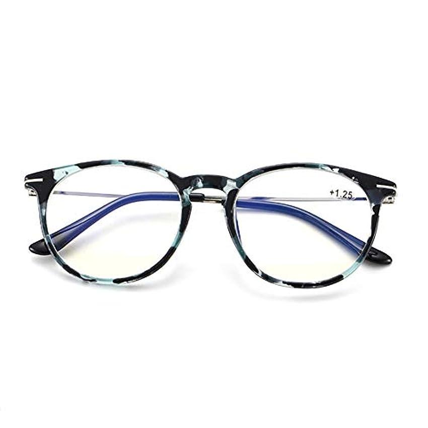 偽善債務者カスタム女性用ラウンドフレームポータブル老眼鏡、PCブルーライトフィルタリングレンズ、コンピュータの眼鏡、良好な光透過率、低色収差、複数色、仕事用運転筆記用