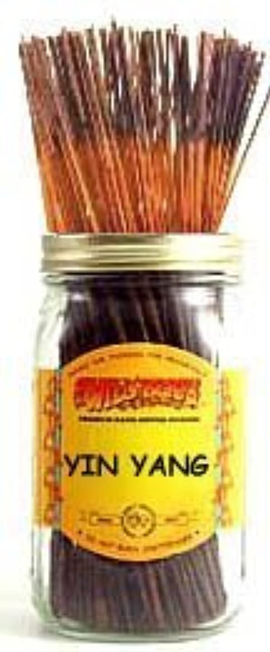 突き刺す顔料プリーツYin Yang - 100 Wildberry Incense Sticks [並行輸入品]