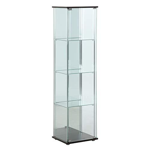 ガラスコレクションケース 4段(背面ミラー付き) 商品コード:96046 不二貿易