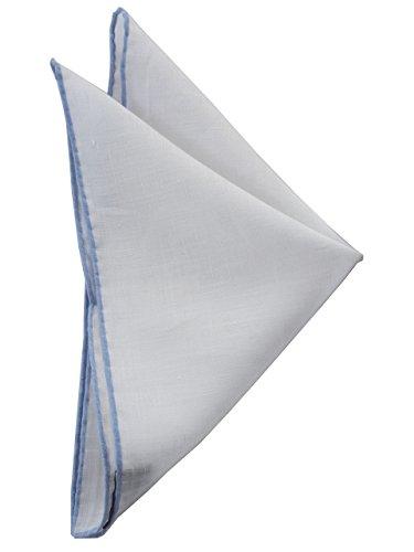 [フランコ バッシ] ポケットチーフ リネン 無地 ホワイト