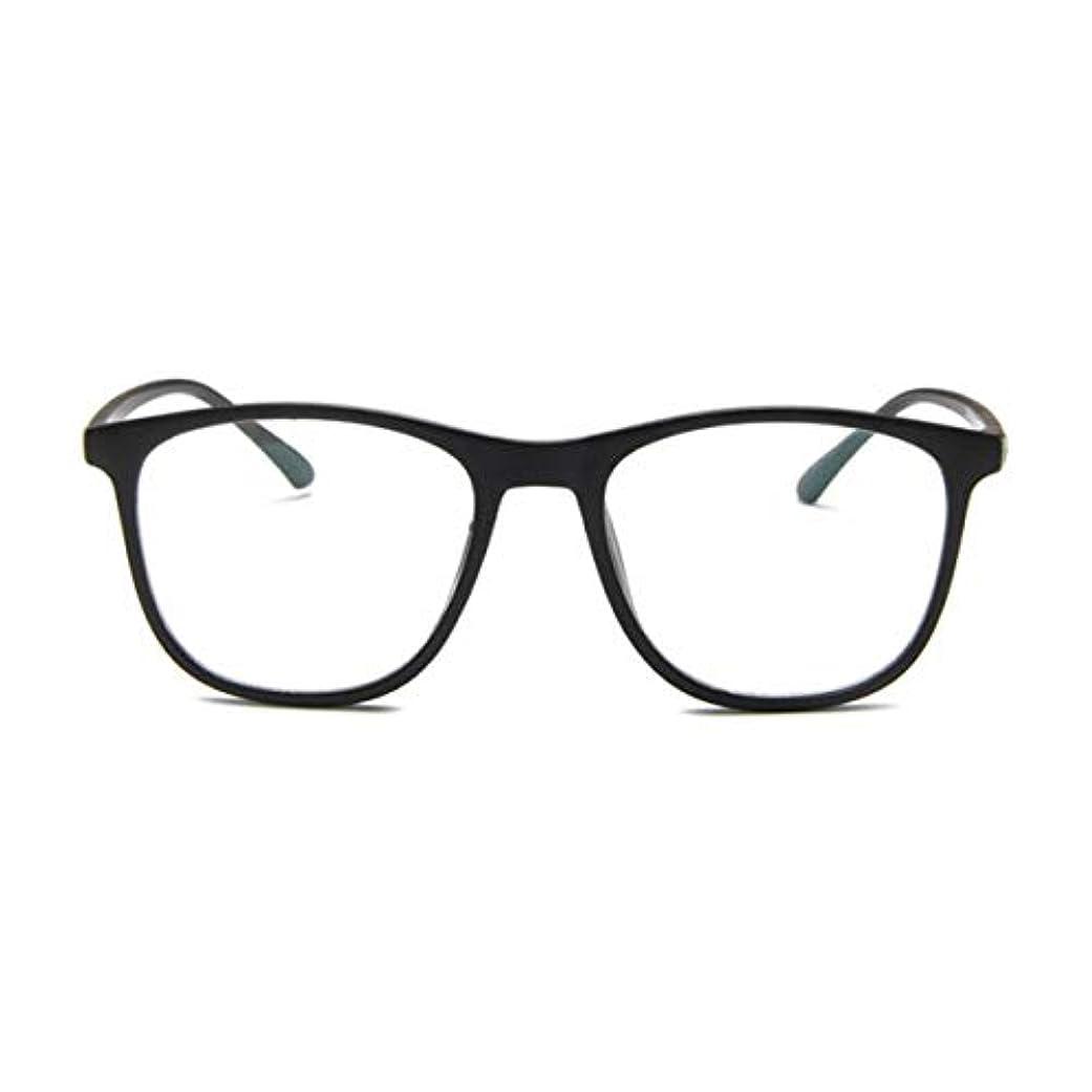 社会主義者作成者塩韓国の学生のプレーンメガネの男性と女性のファッションメガネフレーム近視メガネフレームファッショナブルなシンプルなメガネ-マットブラック