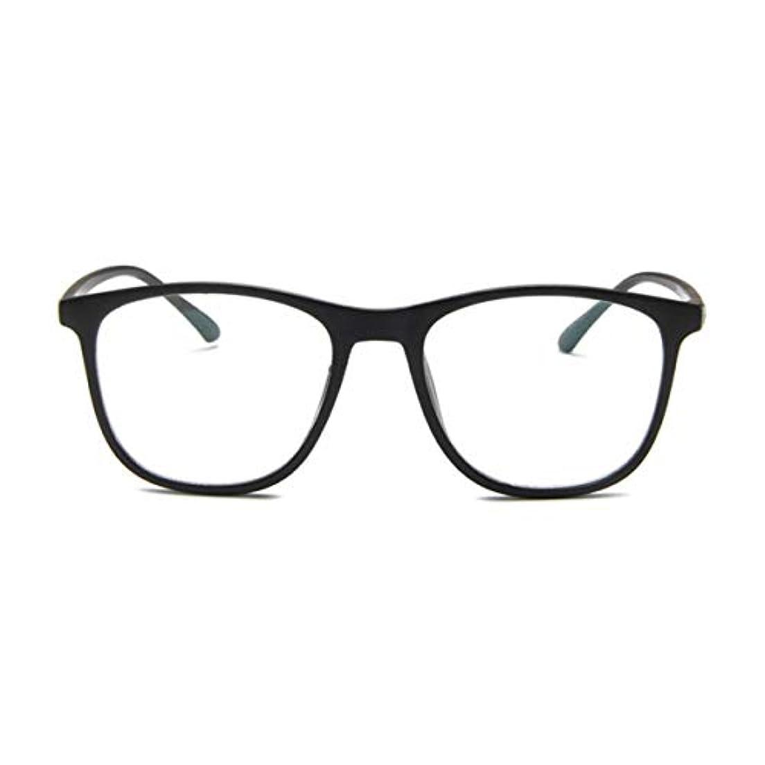 思春期の皮肉な聞きます韓国の学生のプレーンメガネの男性と女性のファッションメガネフレーム近視メガネフレームファッショナブルなシンプルなメガネ-マットブラック