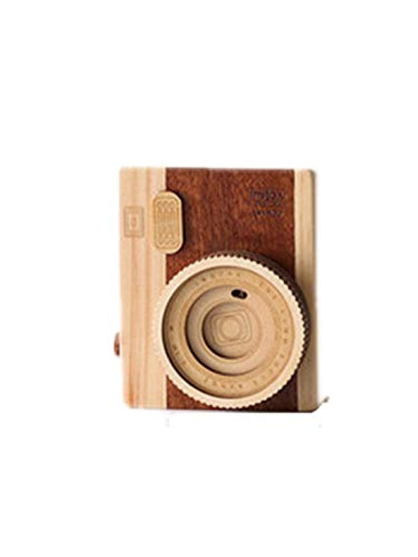 クリエイティブカメラオルゴール木製研究寝室の机の写真の装飾の装飾ホリデーギフト 現代の装飾品 (Style : Camera music box short paragraph)