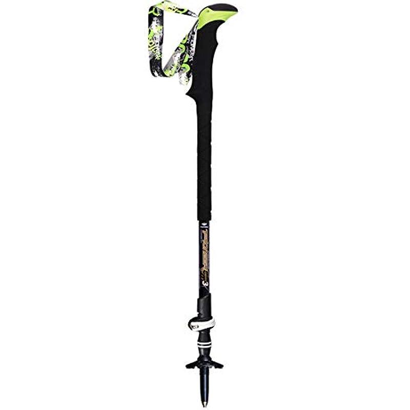 相互誇りでもKoloeplf 高硬度Alpenstocksロック軽量伸縮ハイキング炭素繊維屋外スポーツの3つのスティック (Color : ブラック, サイズ : 135cm)
