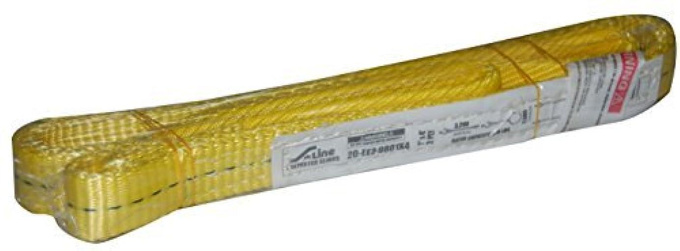 ラジウム中世のナースS-Line 20-EE2-9801X4 1-Ply 1-Inch X 4-Foot Flat Eye To Eye Sling [並行輸入品]