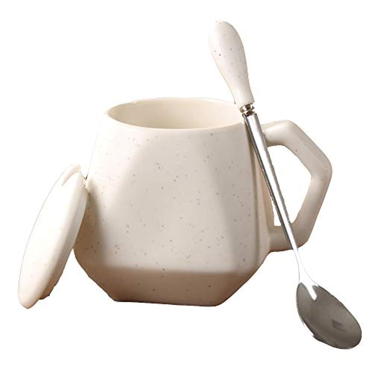 検出可能落胆したブレークMANCAO クリスマスプレゼントクリエイティブな個性かわいいカップシンプルなセラミックマグカップカップコーヒーカップリッドスプーン