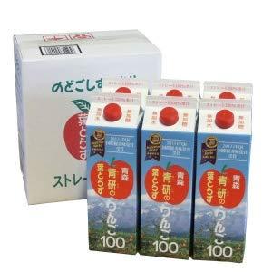 青研の葉とらずりんご100 1000g×6本