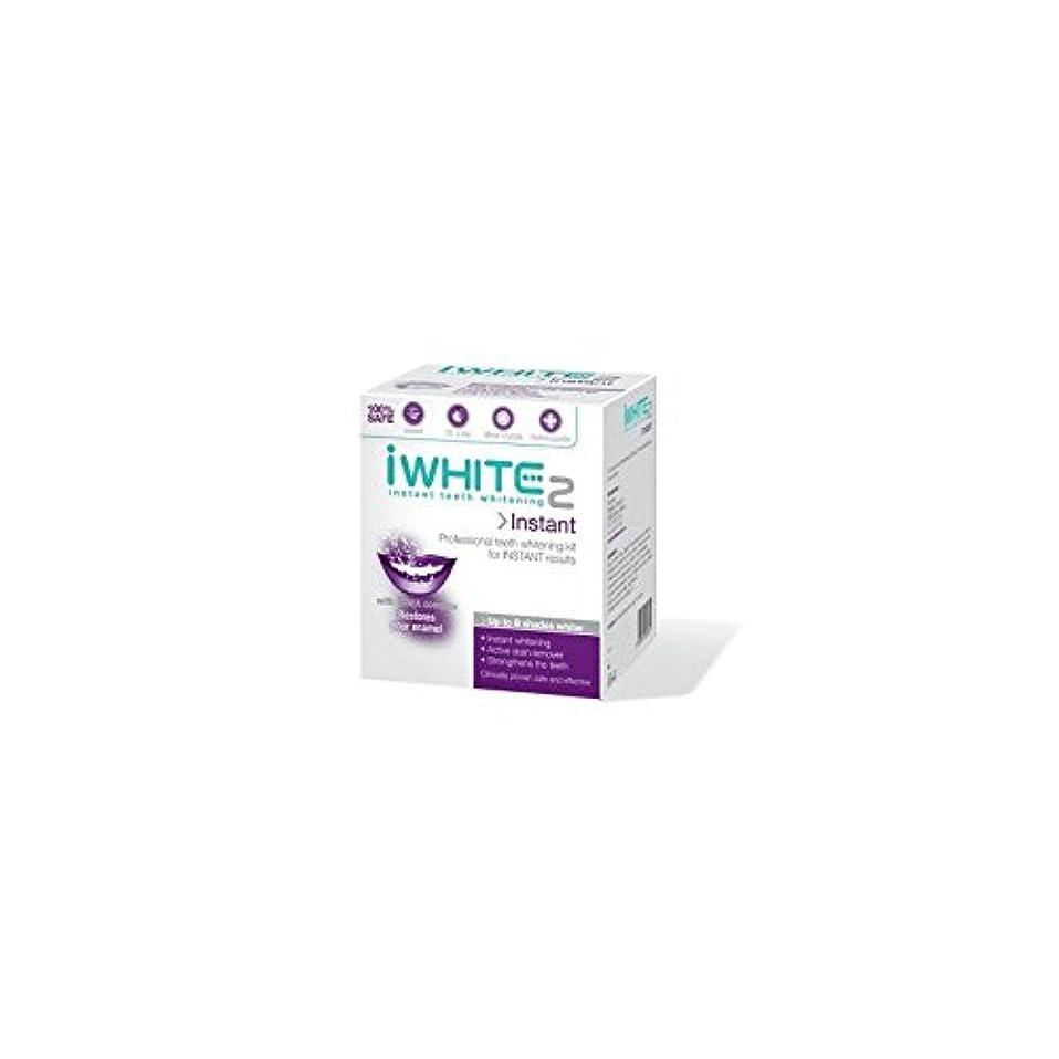 赤海外で独裁者iWhite Instant 2 Professional Teeth Whitening Kit (10 Trays) - インスタントキットを白く2本のプロ歯(10トレイ) [並行輸入品]