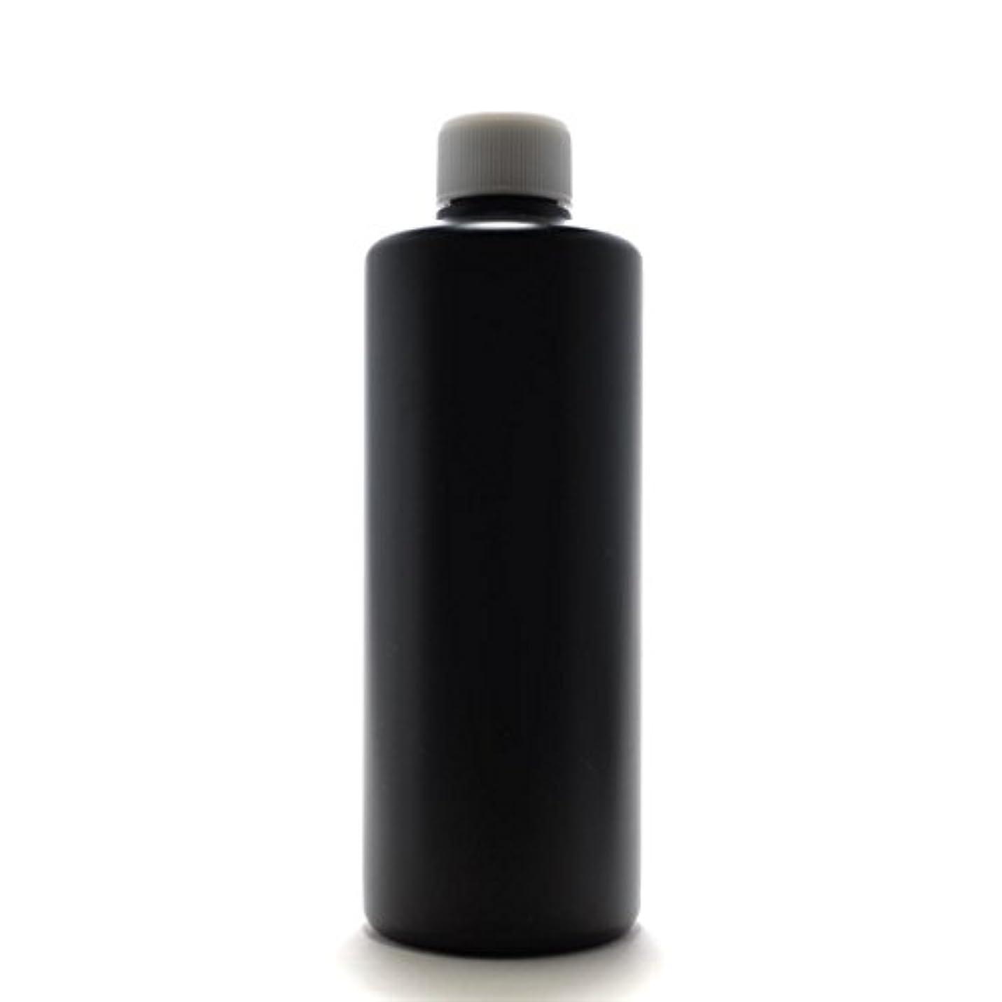 暖炉幹コーデリアプラスチック容器 300ml PE ストレートボトル [ ボトル:遮光黒 / スクリューキャップ:ホワイト ]※中栓付