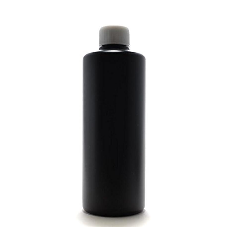 予報ハッチますますプラスチック容器 300ml PE ストレートボトル [ ボトル:遮光黒 / スクリューキャップ:ホワイト ]※中栓付