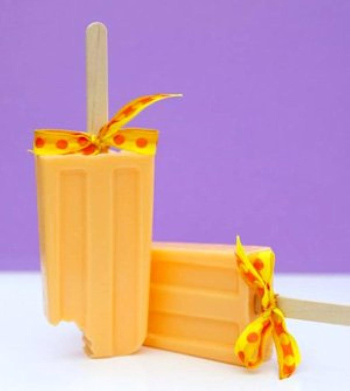 勇気のある良性刻むsoapy love(ソーピーラブ) Orange オレンジ セッケン ソープ ギフト プレゼント 石鹸 H14×W5×D2cm  (orange)