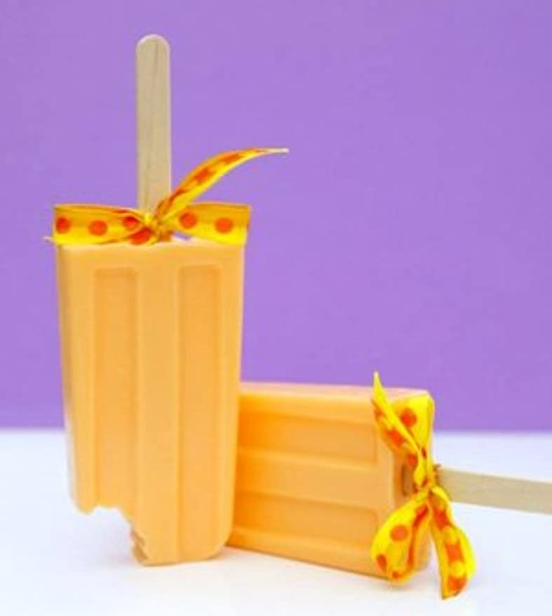 ソブリケット申込み望ましいsoapy love(ソーピーラブ) Orange オレンジ セッケン ソープ ギフト プレゼント 石鹸 H14×W5×D2cm  (orange)