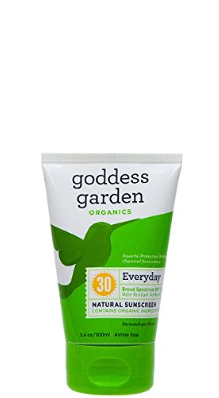 スペシャリストリラックスした説明的海外直送品Goddess Garden Natural Sunscreen SPF 30, 3.4 OZ