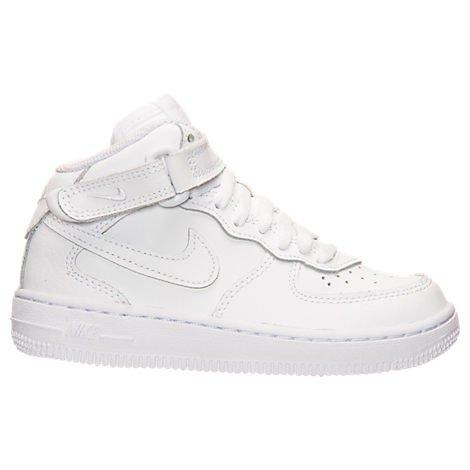 (ナイキ)Nike キッズカジュアルシューズ・靴 Preschool Nike Air Force 1 Mid Basketball Shoes White US 2.0 (21cm) キッズ [並行輸入品]