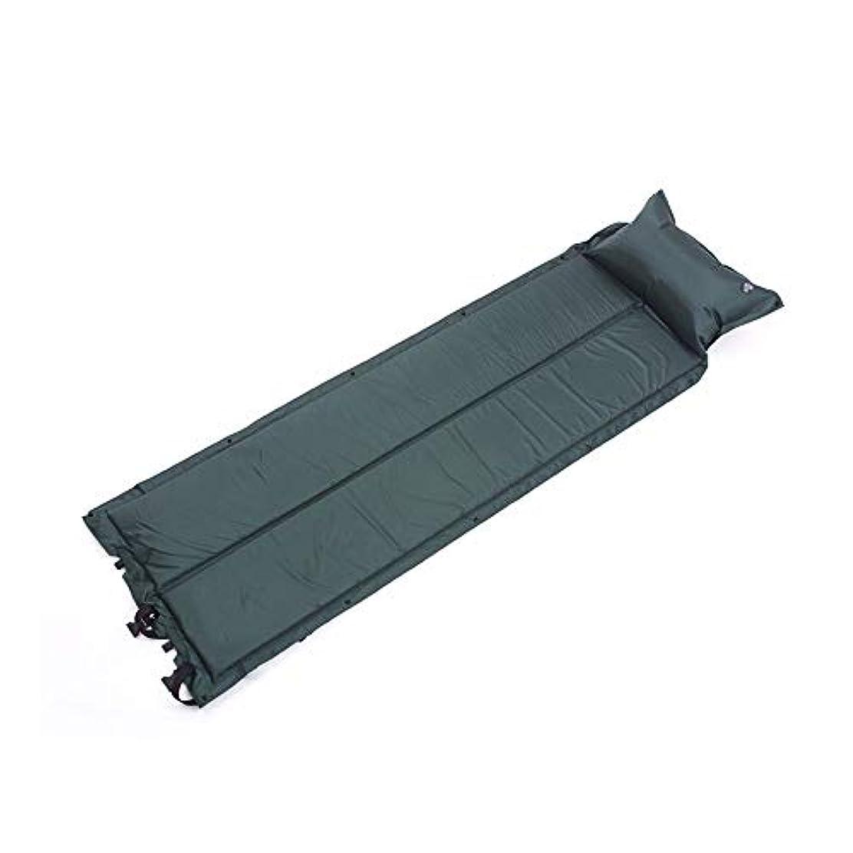 パキスタン人今晩確認してください自動インフレータブルクッション屋外テントスリーピングパッド湿気パッド広げ厚いシングルエアクッションキャンプはステッチ、187×58×2.5センチ (Color : B)
