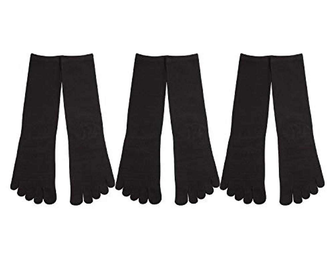 作成者ネズミ剪断Deol(デオル) 5本指 靴下 男性用 黒 3足セット 25cm-27cm メンズ [足のニオイ対策] 長時間消臭 日本製 靴下