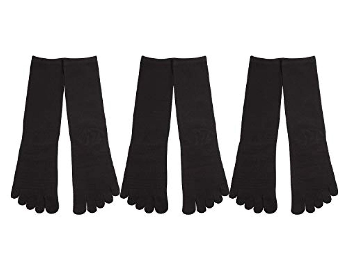 分析するメジャーミリメーターDeol(デオル) 5本指 靴下 男性用 黒 3足セット 25cm-27cm メンズ [足のニオイ対策] 長時間消臭 日本製 靴下