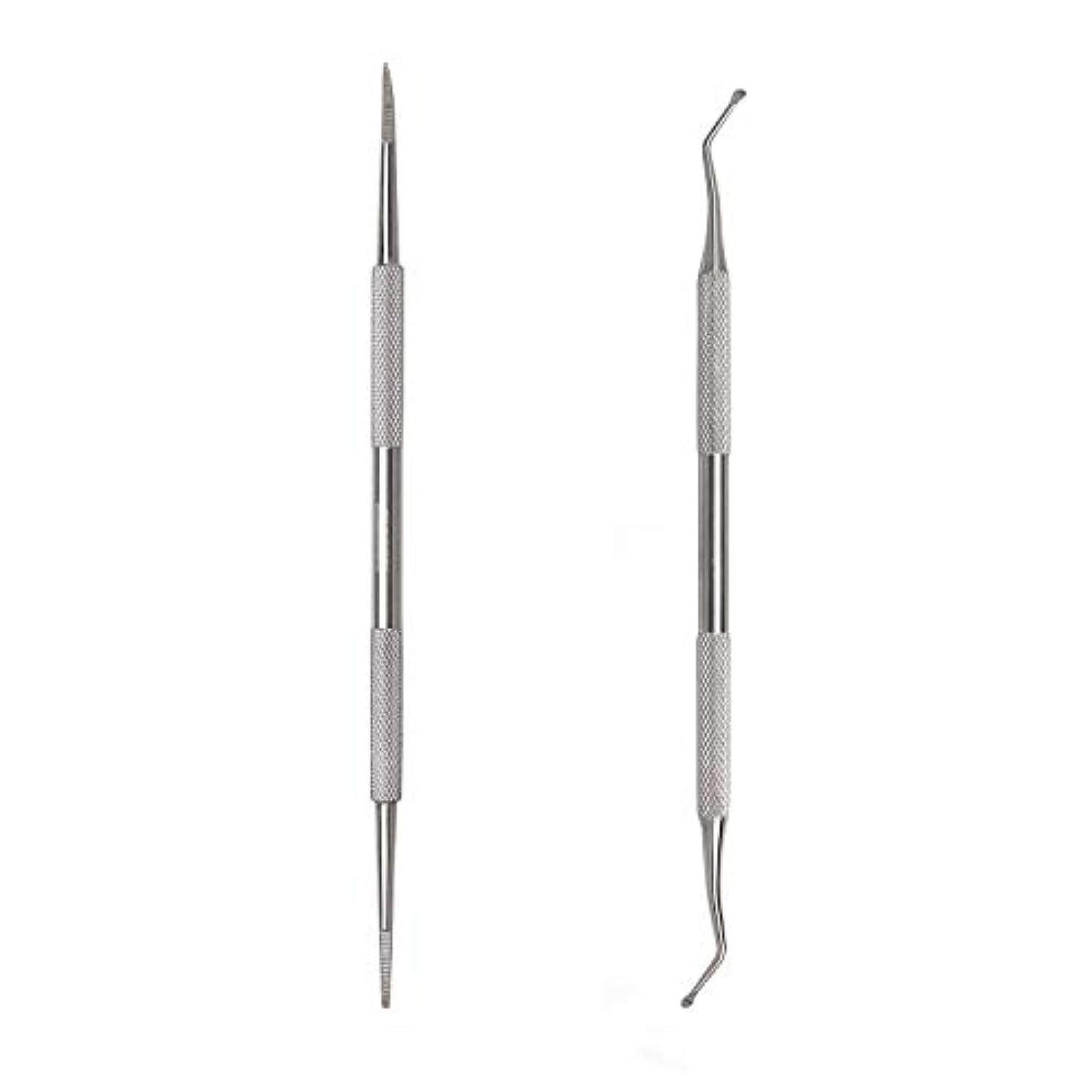 窒素リップペフKingsie 2点セット 爪垢取り 爪リフター 爪やすり ゾンデ ステンレス製 巻き爪 厚い爪 爪ケア フットケア