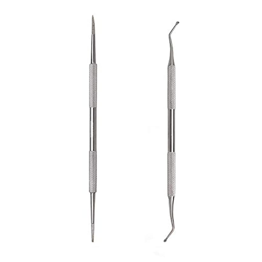 ゲートのスコアモニカKingsie 2点セット 爪垢取り 爪リフター 爪やすり ゾンデ ステンレス製 巻き爪 厚い爪 爪ケア フットケア