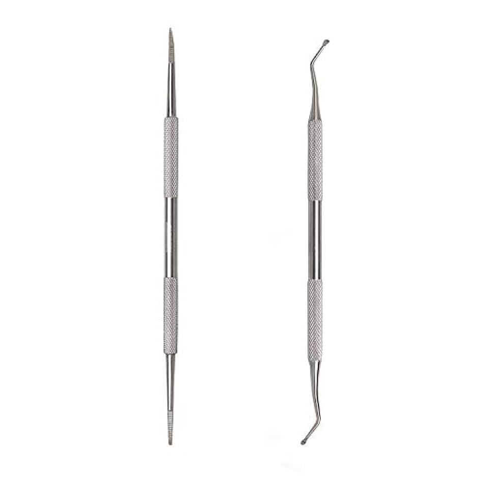 サイト分析する新しさKingsie 2点セット 爪垢取り 爪リフター 爪やすり ゾンデ ステンレス製 巻き爪 厚い爪 爪ケア フットケア