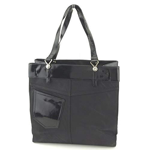 (ディオール) Christian Dior トートバッグ トート ショルダーバッグ ブラック シルバー ポケットデザイン レディース メンズ 中古 L2468