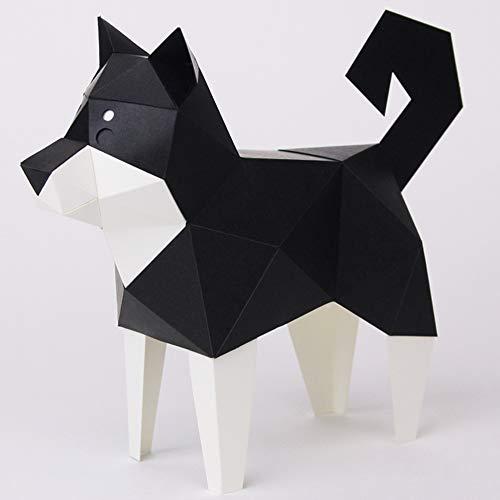 KAKUKAKU TINY カクカク ティニー KUROSHIBA 黒柴犬 組み立てるインテリア ペーパークラフト