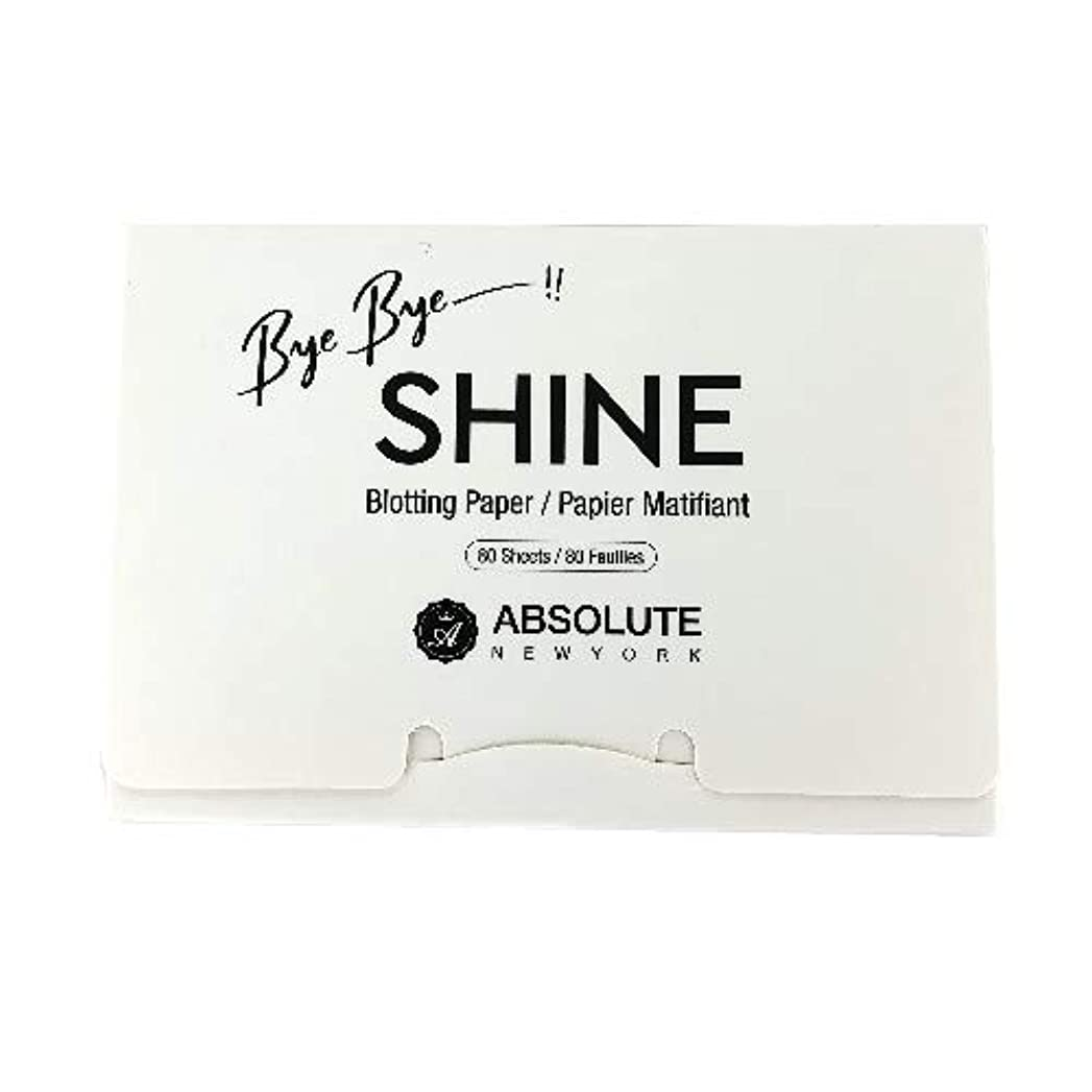 進化する陰気輝度(3 Pack) ABSOLUTE Bye Bye Shine Blotting Paper (並行輸入品)