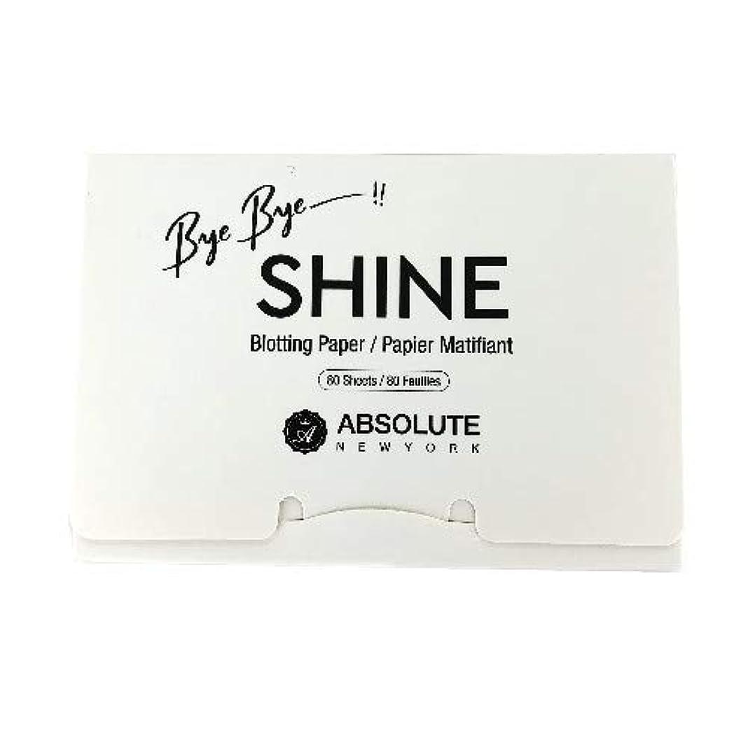 嫉妬アームストロングインセンティブ(3 Pack) ABSOLUTE Bye Bye Shine Blotting Paper (並行輸入品)
