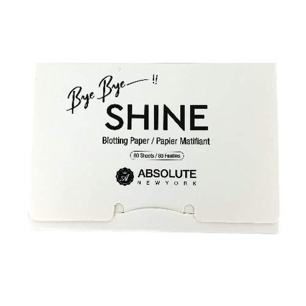 光の定説不十分な(3 Pack) ABSOLUTE Bye Bye Shine Blotting Paper (並行輸入品)